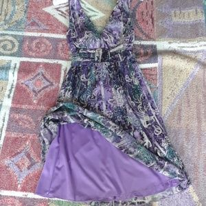 City Triangles Purple Chiffon Cocktail Dress